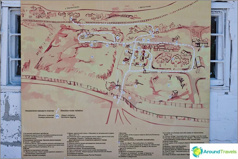 Kartta modernista tanaisista
