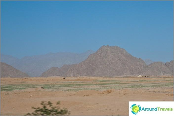 Egypti. Kiinteä hiekka.