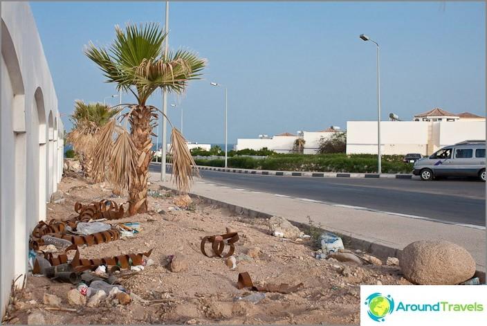 Jäte Sharm El Sheikhissä. Egypti.