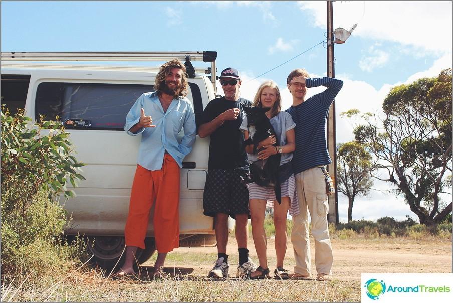 Couchsurfer Aussie Zef, hänen ystävänsä Rob