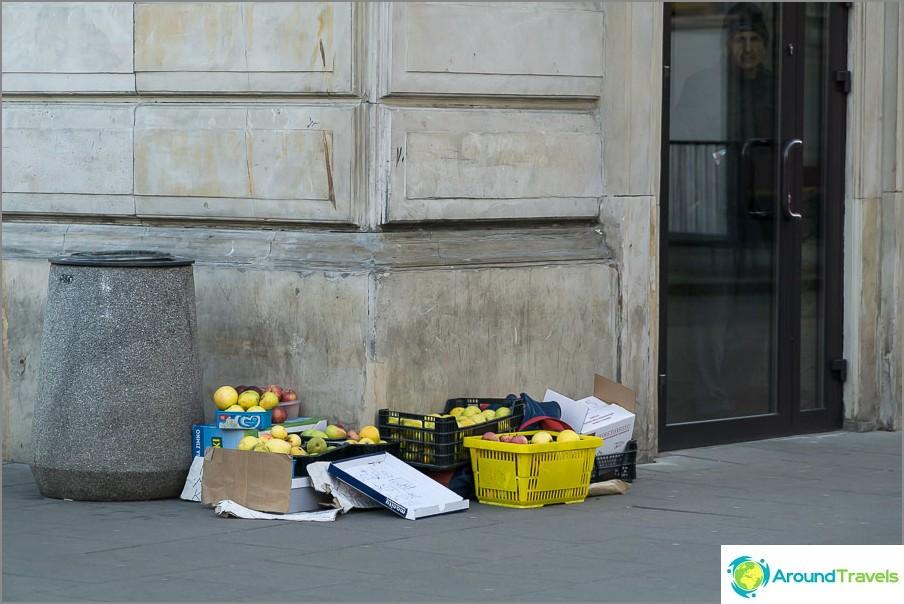 Полските ябълки могат да се купят само на улицата