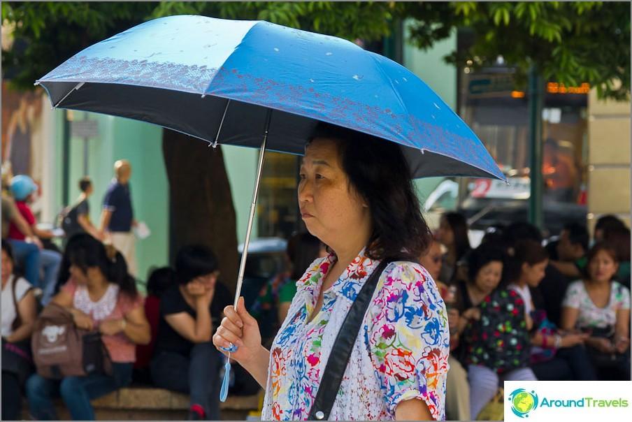 Sateenvarjot auringolta