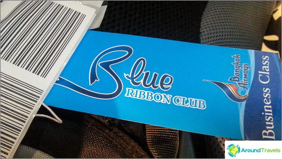 Sininen nauha - Business-luokka Bangkok Airwaysissa