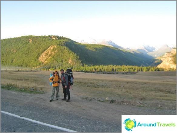Altai-vuori. Paluu takaisin.