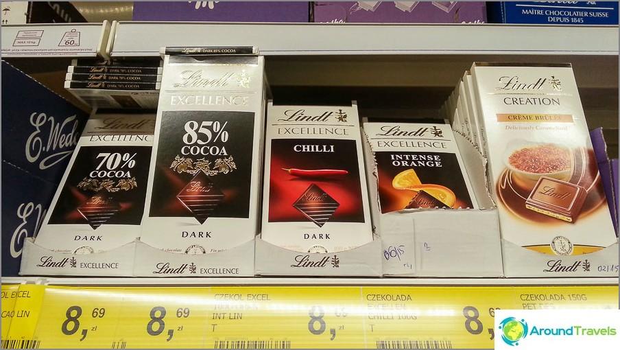 Etsin pitkään Tae-suklaata pippurilla, mutta löysin puolalaisen Tescon