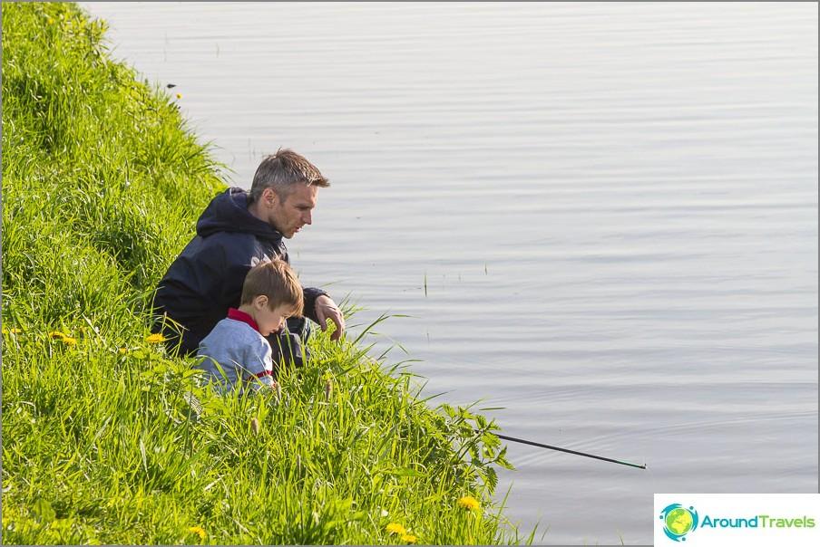 Mutta voit mennä kalastamaan talon lähellä