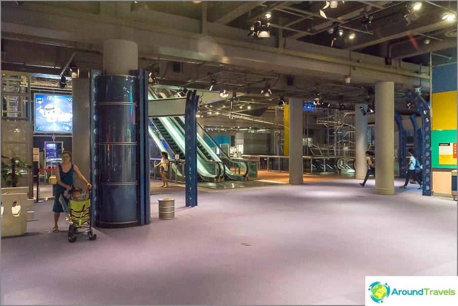 Една от залите на Музея на науката в Хонконг