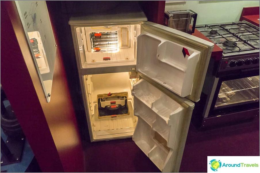 Вътрешността на хладилника