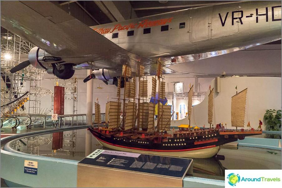 Разположение на самолета и кораба