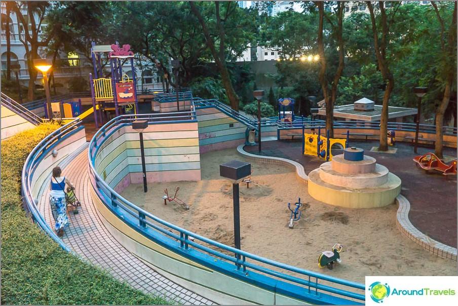 Leikkikenttä Hong Kong Parkissa