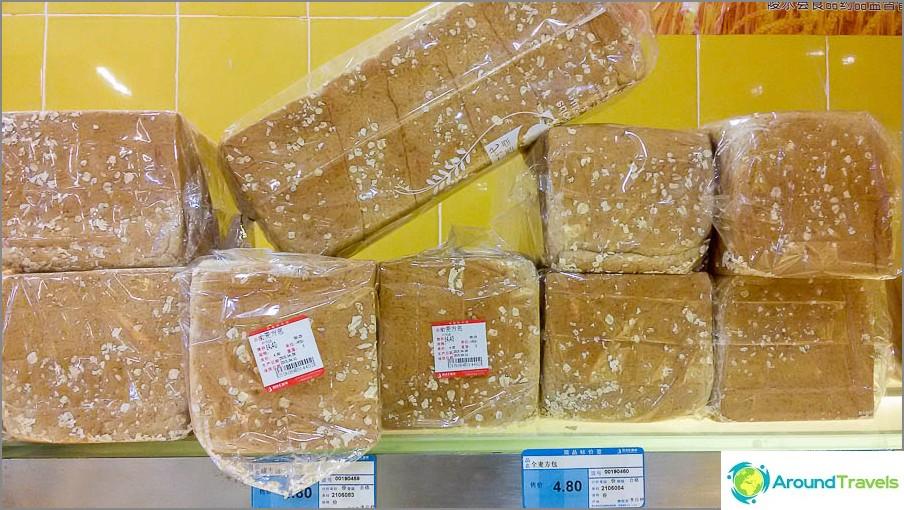 Paino leipää, koko leivän kohdalla 14,4 juania