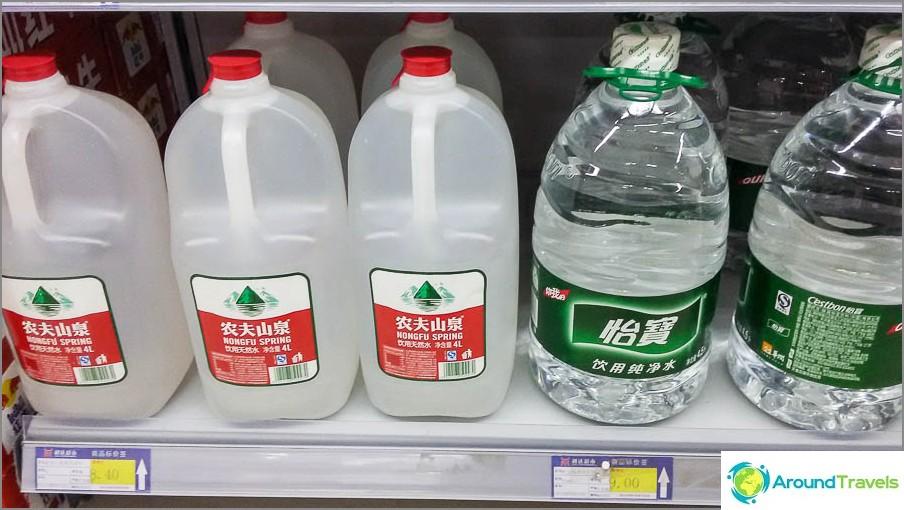 Vesi 4,5 litraa maksaa jopa muutama 1,5