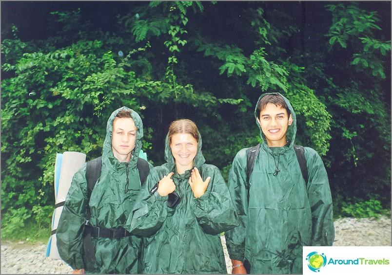 Menimme Tsygankovin vuorelle ja jouduimme 5 tunnin sateeseen, sadetakit eivät pelastaneet