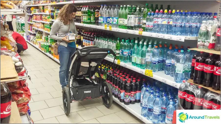 Pienessä supermarketissa lähellä Moskovaa