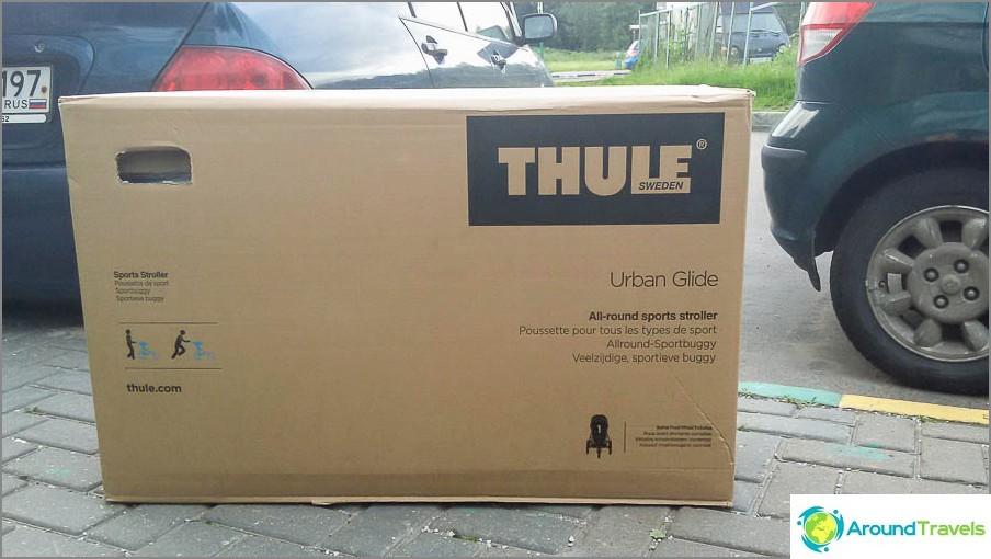 Thule-vaunujen laatikko on melko suuri