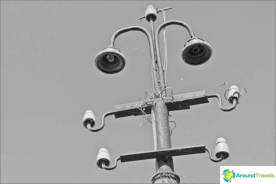 Taskulamput sillassa