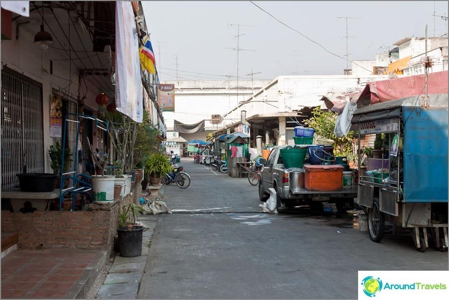 Sukhothain kaupunki on aivan tavallinen
