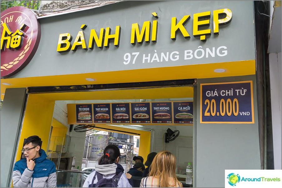 Baguette-voileipiä Hanoissa alkaen 20 000 dongista