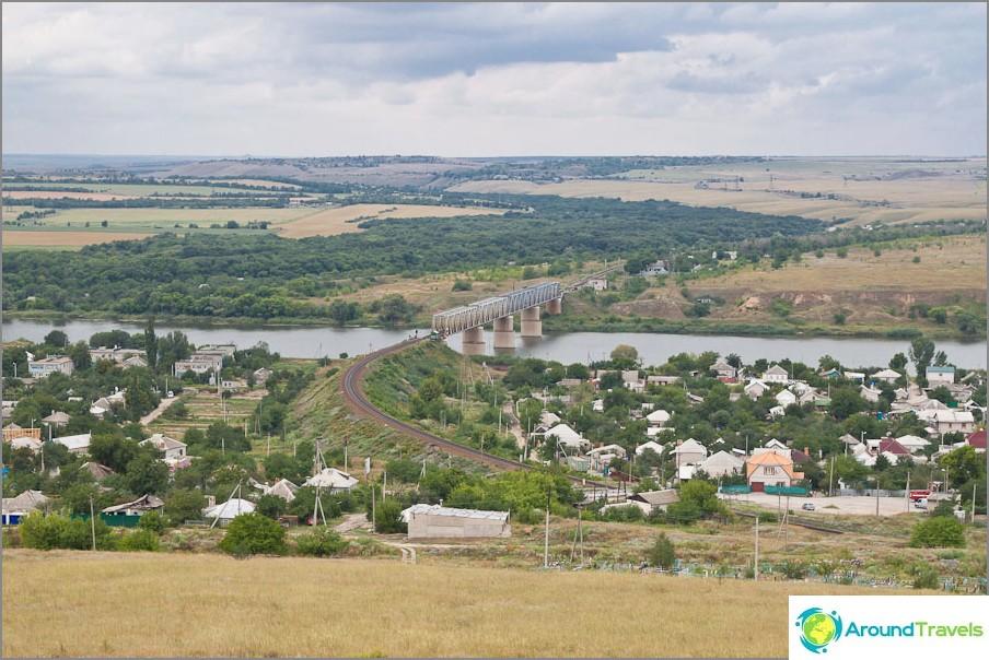 Изглед от планината Караул към град Белая Калитва