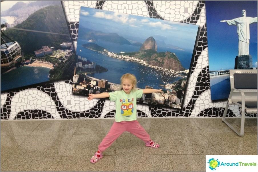 Kuljetus Rio de Janeiron lentokentällä (Brasilia)