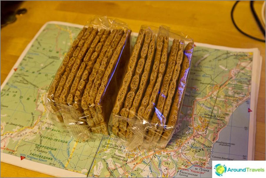 Каква храна да вземете на екскурзия - сушен хляб