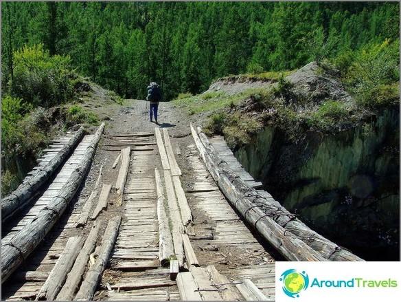 Планински Алтай. мост над Чуя.