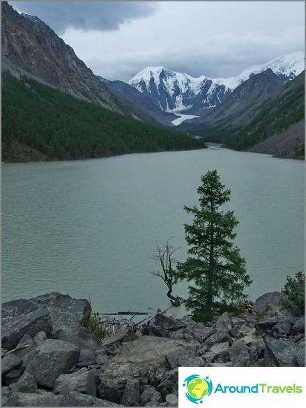 планини на Алтай. Езерото Маашеи.