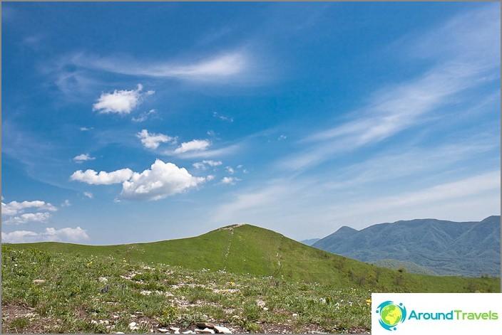 Изглед от планината Шахан.