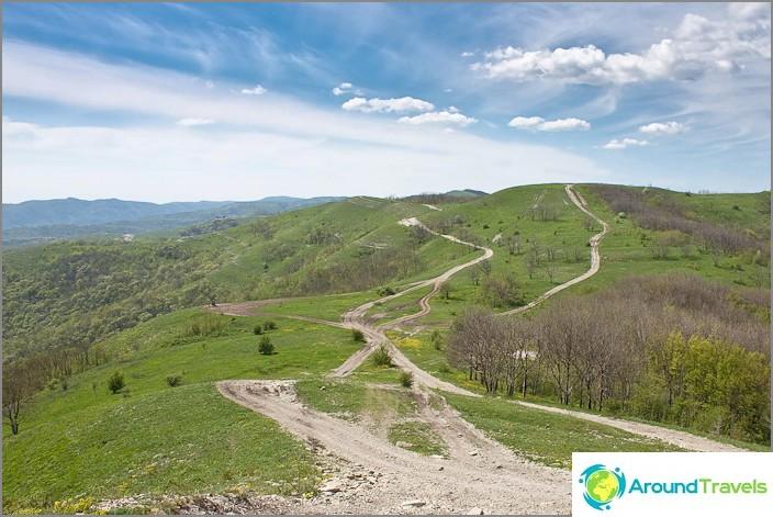 Кавказки хребет. Планини на Геленджик.