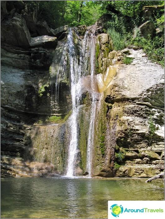 Водопади в близост до главата на река Жанет