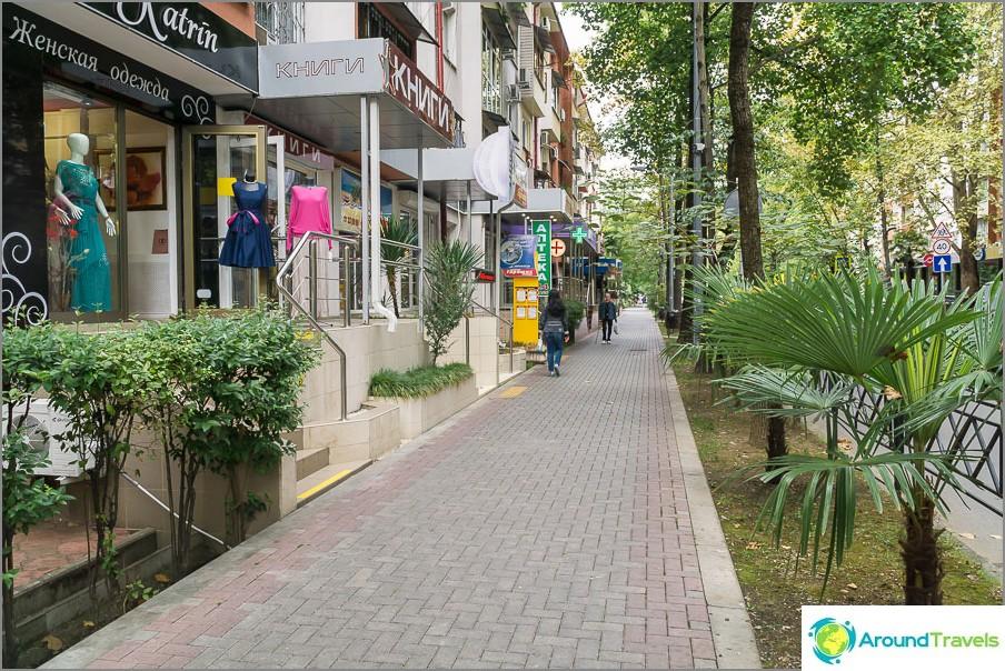 Улица в центъра на Сочи