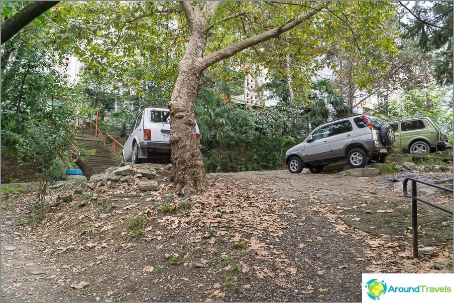 Но някъде по-добре да паркирате в кола с висок просвет