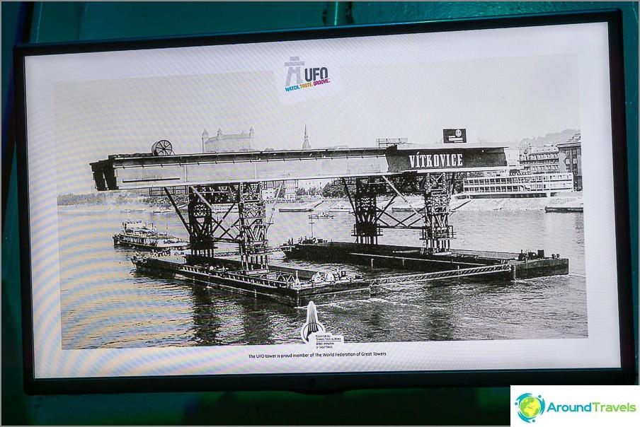 Televisiossa esitetään kuva sillan rakentamisesta