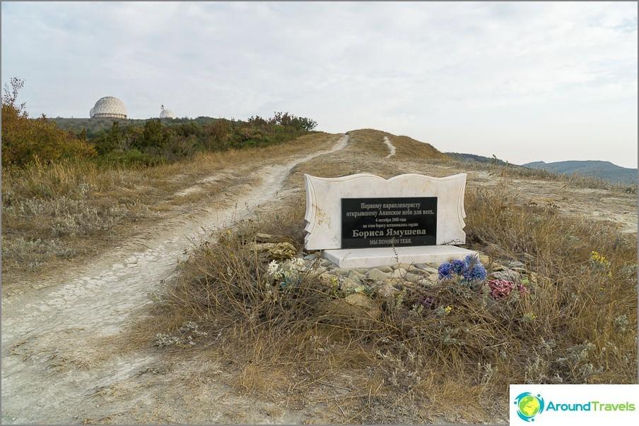 Ensimmäisen varjoliitimen muistomerkki