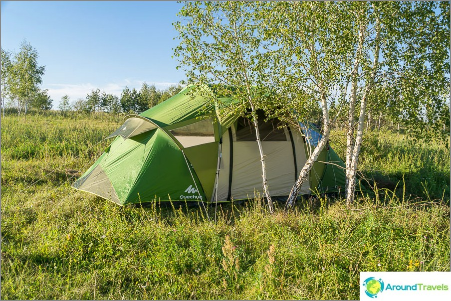 Нашата къща за палатки Декатлон