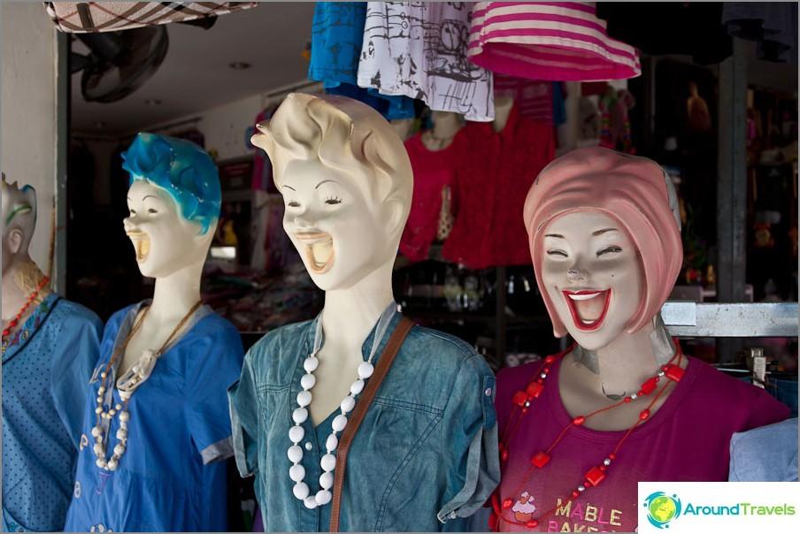 Jopa manekenit hymyilevät Taissa!
