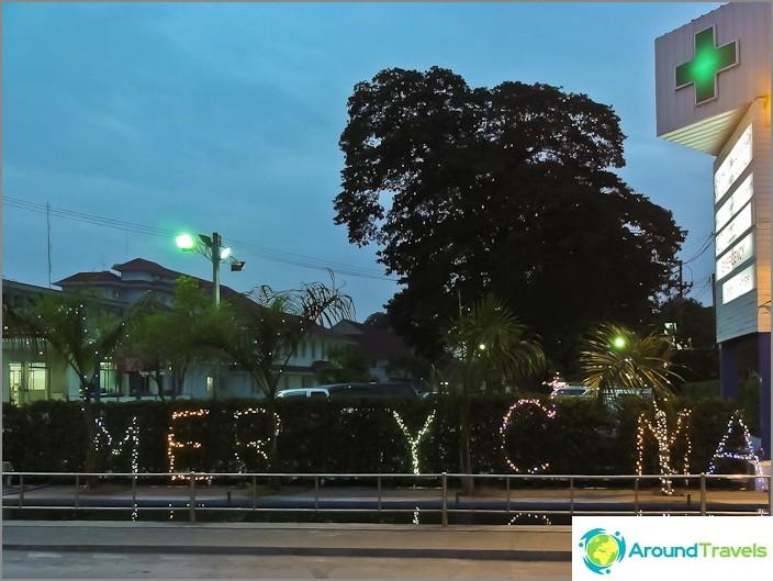 Joulukoristeet Thaimaassa