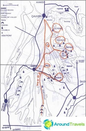 Карта на квартала на Гореме.