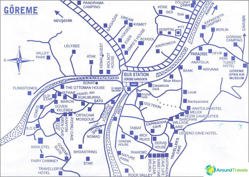 Карта на Гореме
