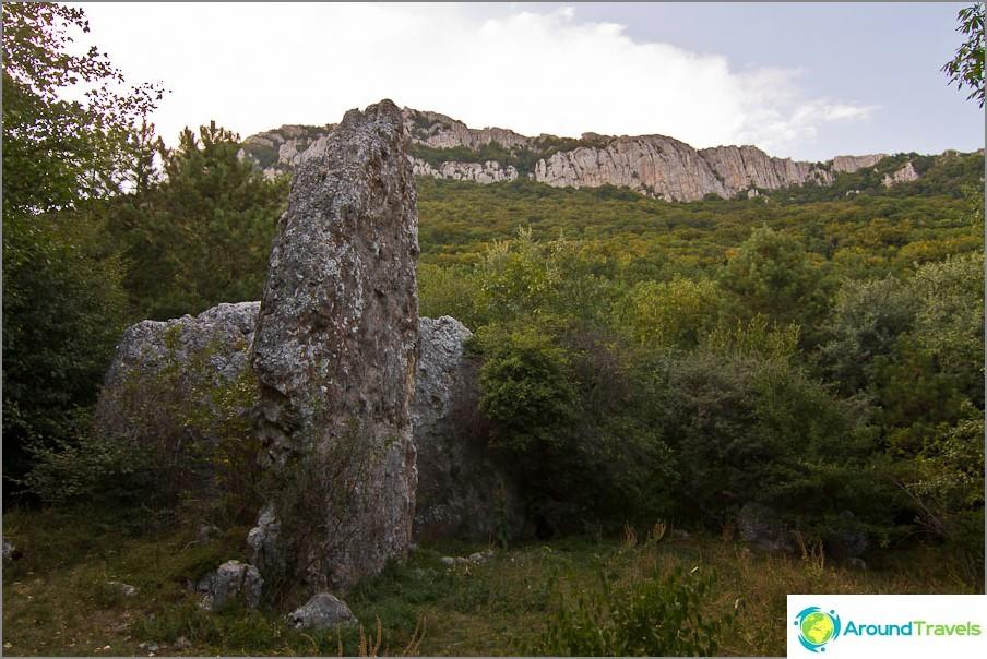 Hyvin omituinen kivi, samanlainen kuin Praskoveevkan kalliopurje