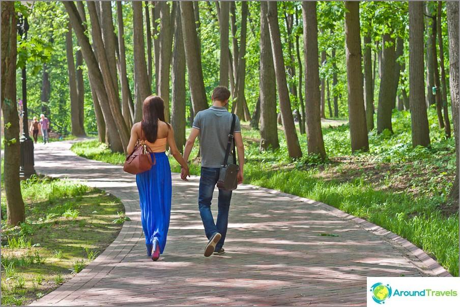 Romanttinen kävelymatka Tsaritsynossa