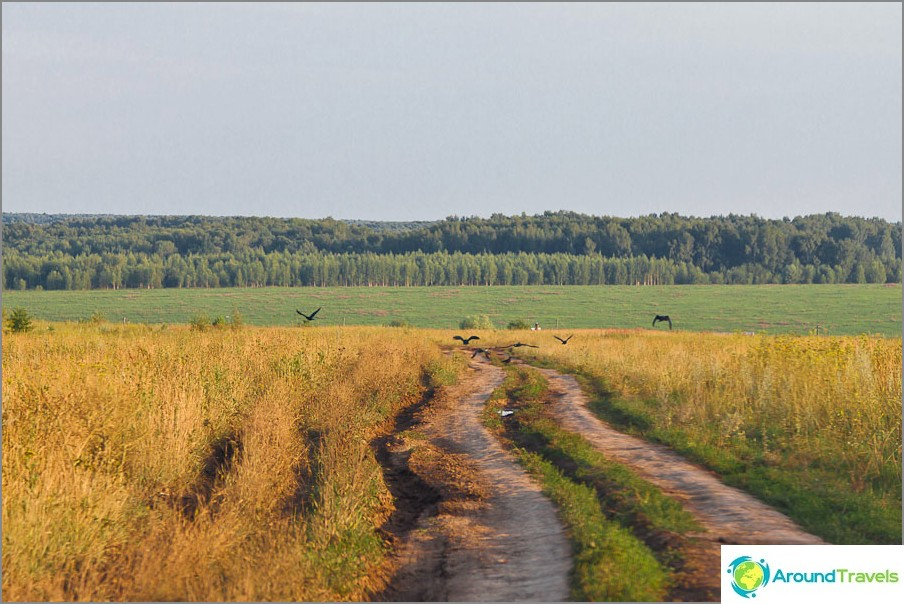 След асфалт трябва да изминете 5 км по черен път