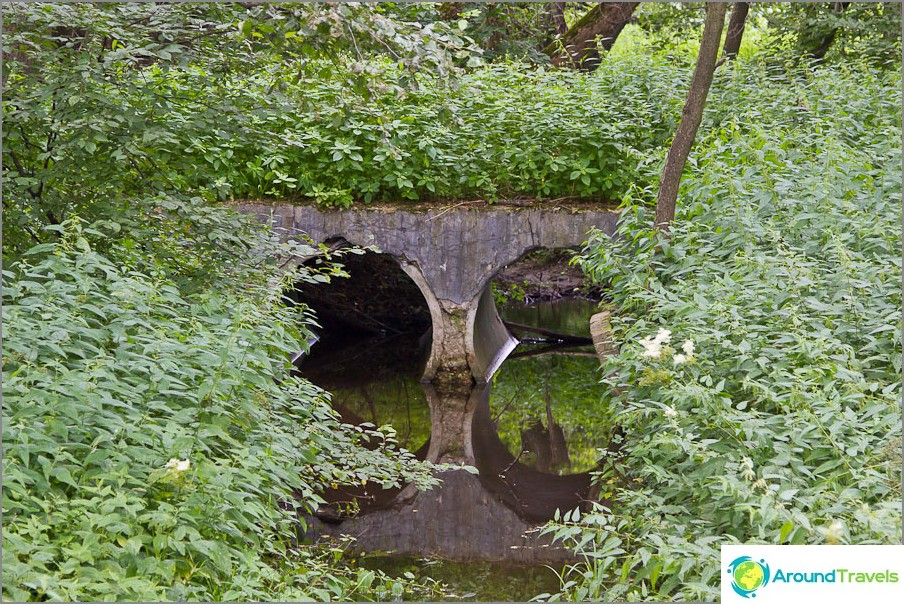 Turovka-joki virtaa rotkoon