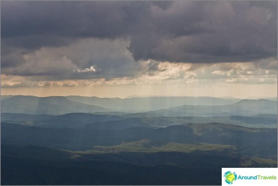 Aurinko vuorotellen pilvien kanssa ja antoi meille sellaisia kuvia
