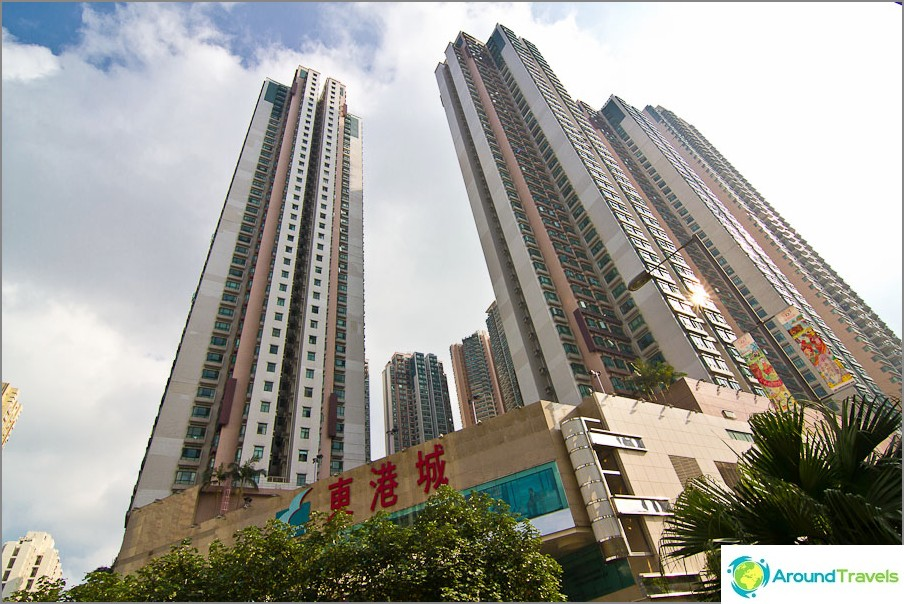Hongkongin laitamilla talot ovat hiukan paksumpia