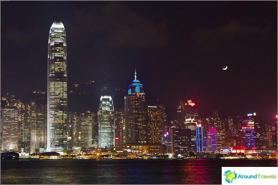 Hong Kong Night - näkymä Hongkongin saarelle