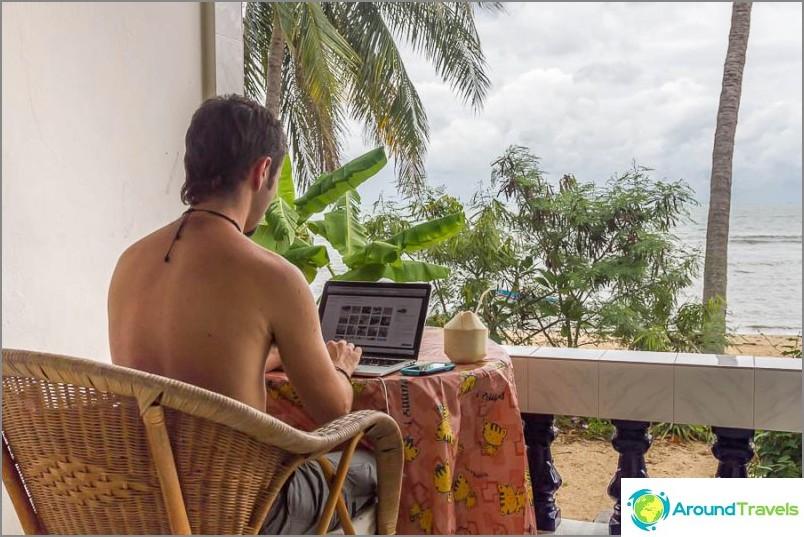 Huolimatta mahdollisesta kuvasta ikkunan ulkopuolella, sinun on myös istuttava tuntikausia tietokoneen ääressä