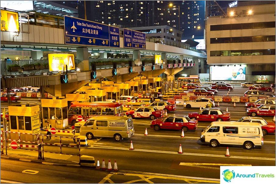 Taksien hallitsevuus Hongkongissa