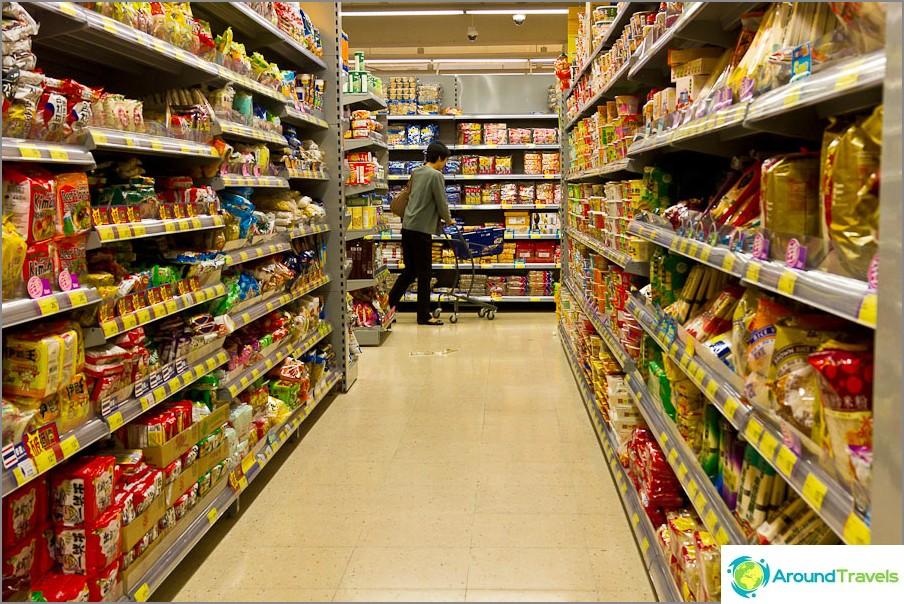 Supermarketit ovat tavallisia, samanlaisia kuin kaikki muut maailmassa.