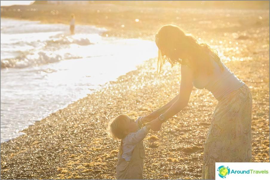 Мама със син